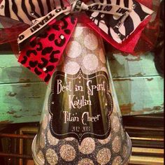 Personalized Blingy Cheer Megaphone by RebelChickDesigns   #Cheer Gift #Cheer Banquet # Cheer Competition