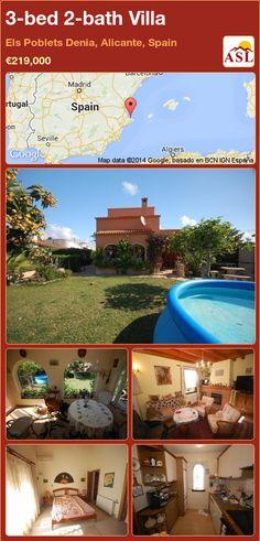 3-bed 2-bath Villa in Els Poblets Denia, Alicante, Spain ►€219,000 #PropertyForSaleInSpain