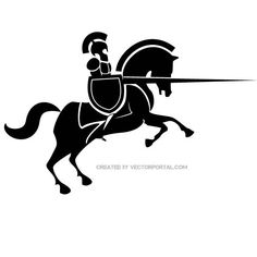 Knight silhouette in vector poster. Plotter Silhouette Cameo, Knight On Horse, Fairy Jars, Medieval, App Design Inspiration, Horse Crafts, Celtic Art, Celtic Designs, Art Drawings Sketches