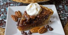 (Jamie is a guest blogger from Jamie Cooks It Up!) Traditional Pecan Pie is one of my favorite Thanksgiving pies, to be sure. I love the textural combination of crunchy pecans and sweet sticky filling. I love the rich flavor and the flaky crust. Yum. This Chocolate Pecan Pie I've brought to share with you…