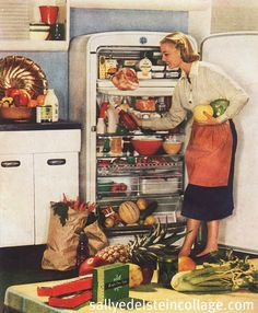 We had an old refrigerator like this in the 60's.  But I think it was built in the 50's.