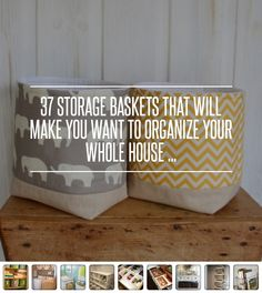 37 #Storage Baskets That Will Make You Want to #Organize Your Whole… #Little