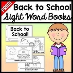 Back to School FREE Your students will have fun reading with these two free sight word books! The first book has a cover and 4 pages of predictive, emergent level text to help your student learn their Kindergarten Language Arts, Kindergarten Books, Kindergarten First Day, Beginning Of School, Back To School, Sight Word Activities, First Grade Reading, School Worksheets, Reading Intervention
