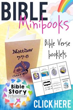 These Are Awesome! A single sheet of paper turns into a Bible Story minibook for kids! Print key Bible Stories or Bible Memory Verses Free: http://www.biblestoryprintables.com/BibleStoryMinibooks