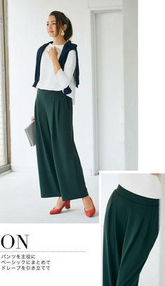 上品キレイなポンチボトムのON&OFF着回し|Today's Pick Up|ユニクロ Workwear, Uniqlo, Favorite Things, Fashion, Moda, Work Wear, Fashion Styles, Work Attire, Work Clothes