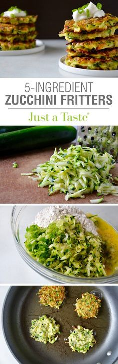 5-Ingredient Zucchini Fritters Recipe.....All I need to do is replace the eggs, which is very simple