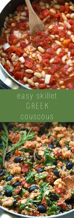 20-minute skillet Greek couscous