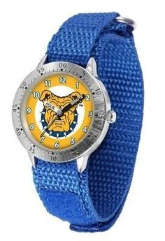 North Carolina A Aggies Youth Watch Velcro Strap Watch by SunTime. $29.95. Velcro Strap. Kids & Toddlers. Adjustable Band. Officially Licensed NC A Aggies Youth Watch. Stainless Steel Back. North Carolina A Aggies Youth Watch Velcro Strap Watch. The metal alloy case is light weight with a stainless steel back and a sporty adjustable Velcro strap for the perfect, comfort youth fit. The Aggies large team logo creates an eye popping prideful statement. The kid friendly easy-t...