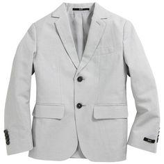 Boss Pearl grey linen blend suit jacket Grey - 36609   Melijoe.com