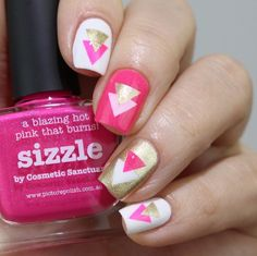 piCture pOlish 'Sizzle' nails by Mary Monkett LOVE shop on-line: www.picturepolish.com.au