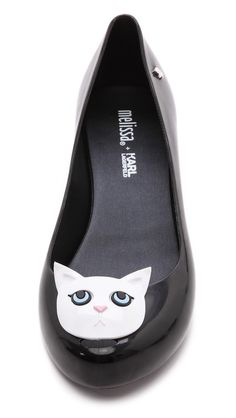 Melissa + Karl Lagerfeld Ultragirl Cat Flats