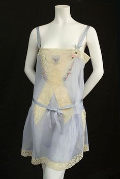 Chiffon and lace teddy, 1920s, from the Vintage Textile archives.