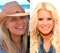 Celebrities With and Without Makeup   Jessica Simpson With and Without Makeup