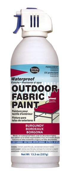 Simply Spray Outdoor Paint is a waterproof, non-toxic, non-flammable aerosol paint for use on outdoor furniture and items that need to survive the rigours of weather. The paint is permanent, fast ...