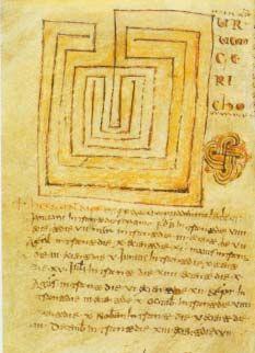 """Jericho"" #Labyrinth  Ninth century German manuscript"
