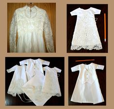 """How awesome is this?! You can donate your old wedding dress to have it lovingly made into many smaller """"Angel Gowns"""" that are given to parents who face the most difficult of all forms of grief: loss of a child. These tiny dresses are used to help lay to rest NICU infants who are taken from this world much too early."""