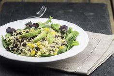 REISHUNGER Quinoa Salat mit Avocado und schwarzen Bohnen #reishunger #salad #quinoa #blackbeans #vegetarian