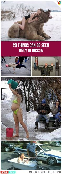 20 Things That Can Be Seen In Russia #funny #photos #funnypics #funnypictures #people #humor #weird #bemethis