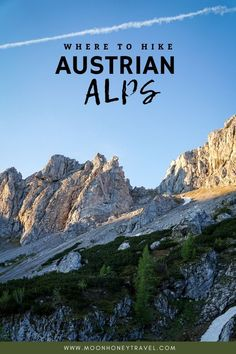 Find out where to hike in the Austrian Alps. This guide outlines our favorite alpine destinations in Austria plus tips on specific day hikes, hut to hut hikes, and places to stay.   #austria #austrianalps #alps #hiking #trekking #schladming #zillertal #salzburg #hikingaustria #europe #austriamountains #mountains Travel Guides, Travel Tips, Hiking Guide, Austria Travel, Adventure Activities, Day Hike, Travel Couple, Holiday Destinations, Alps