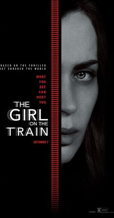 The Girl on the Train (2016) Emily Blunt as job-less PR manager looking out from the train.