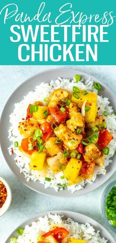 This Sweetfire Chicken is a perfect Panda Express copycat with chicken, red pepper, onion and pineapple in a spicy sweet chili sauce. #pandaexpress #sweetfirechicken