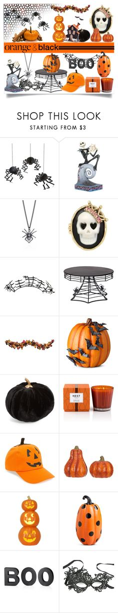 """Orange and Black"" by jeneric2015 ❤ liked on Polyvore featuring interior, interiors, interior design, home, home decor, interior decorating, Meri Meri, Betsey Johnson, Paperself and Improvements"