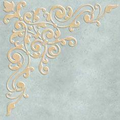 Avignon Corner Ceiling Stencil from Royal Design Studio Stencils Stencils, Stencil Art, Stencil Patterns, Stencil Designs, Decoupage, Plaster Art, Royal Design, Bar Design, Victorian Design