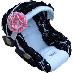 Baby Rose Noir Infant Car Seat Cover
