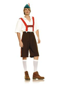 4PC LEDERHOSEN ADULT COSTUME - 212838