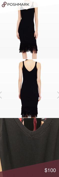 Club Monaco fringe knit dress Perfect condition, worn 1 time. Sold out online Club Monaco Dresses Midi