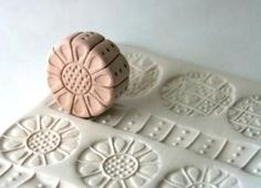 Clay Roller Stamp Three In One Clay Texture Tool with Sunflower Dots Checkers Hearts for Pottery Ceramics Polyclay by floney