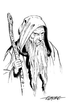 Face of Man / Clip Art / Wizard (Larry Elmore) Fantasy Portraits, Character Portraits, Character Art, Drawing Reference, Line Drawing, Drawing Stuff, Fantasy Sword, Fantasy Art, Dcc Rpg