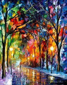 This is just breathtaking. It's by Leonid Afremov. I just IDd it when @RamiKantari pinned another Afremov painting.