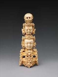 Finial for a Buddhist staff (Khatvanga), early 15th century. China. The Metropolitan Museum of Art, New York.Gift of Florence and Herbert Irving, 2015 (2015.500.6.13).