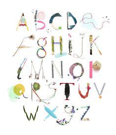Alfalfabet - Handmade alphabet by illustrator Luci Everett from Melbourne