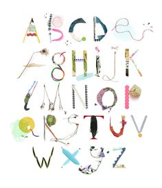 Alfalfabet - Handmade alphabet by illustrator Luci Everett from Melbourne
