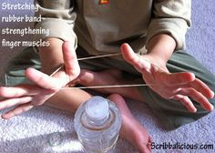 Stretching rubber band activity