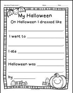"""FREE LANGUAGE ARTS LESSON - """"Super Smart Writing: Halloween Narrative Freebie"""" - Go to The Best of Teacher Entrepreneurs for this and hundreds of free lessons. Kindergarten - 1st Grade #FreeLesson #LanguageArts #Halloween http://www.thebestofteacherentrepreneurs.com/2015/09/free-language-arts-lesson-super-smart.html"""
