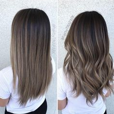 Long Wavy Ash-Brown Balayage - 20 Light Brown Hair Color Ideas for Your New Look - The Trending Hairstyle Rich Brown Hair, Brown Hair Shades, Brown Hair Colors, Dark Hair, Cool Tone Brown Hair, Medium Ash Brown Hair, Light Ashy Brown Hair, Dark To Light Hair, Medium Curly