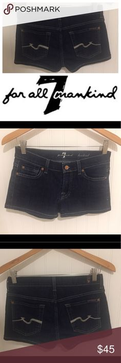 7 Seven For All Mankind dark bootcut shorts 25 Size 25. New without tags. Never worn. So pretty!! See my closet for more great deals on clothes, shoes and accessories. 15% off three or more items. 7 For All Mankind Shorts