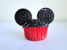 Mickey Mouse birthday cupcake!