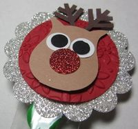 Reindeer made with Stampin Up's Owl Punch