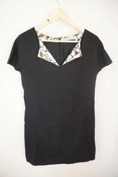 Balenciaga Paris Black Silk Shift Dress Size M  #Balenciaga #Shift #Casual