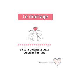 Le mariage  Trouvez encore plus de citations et de dictons sur: http://www.atmosphere-citation.com/amour/le-mariage.html?