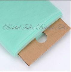 Mint Tulle Fine Diamond Weave 480 Feet https://www.tradesy.com/weddings/wedding-decorations/mint-tulle-fine-diamond-weave-480-feet-1001513