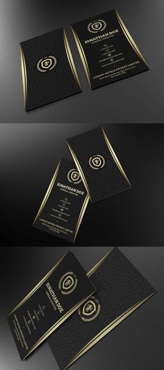 Gold and Black Business card #55