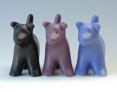 Beautiful Vases, Dogs and Cats from Venice Clay Studio.