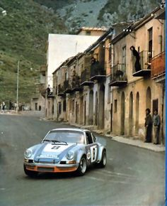1973 Targa Florio, the Porsche 911 Carrera RSR entered by Martini Racing, driven by Müller / Van Lennep, wins the race. Porsche Sports Car, Sports Car Racing, Sport Cars, Race Cars, Motor Sport, Porsche Carrera, Gilles Villeneuve, Martini Racing, Ferdinand Porsche