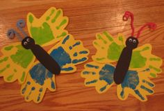 Fun craft I did with the toddlers for insect week!