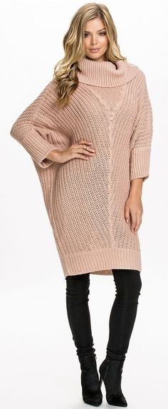 knit sweater-dress